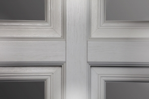 Mechanically joined frame work is done to mimic the construction of traditional timber windows and doors.