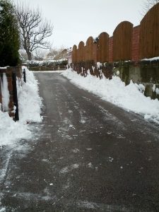 Driveway now clear for cars and deliveries...